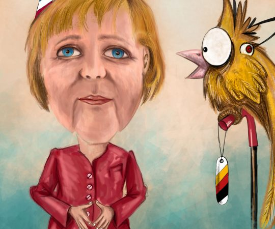 Illustration Angela Merkel